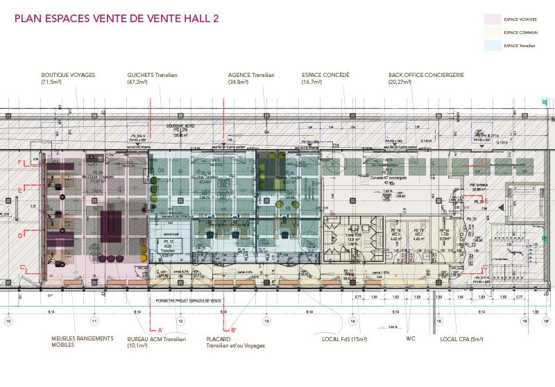 Plan PDV Hall 2